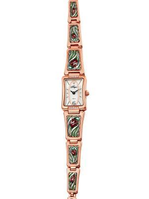 Часы Mikhail Moskvin. Цвет: светло-зеленый, золотистый, красный