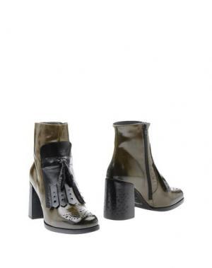 Полусапоги и высокие ботинки ZINDA. Цвет: зеленый-милитари