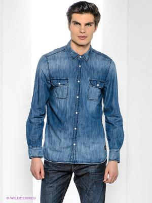 Рубашка Bogner Jeans. Цвет: синий