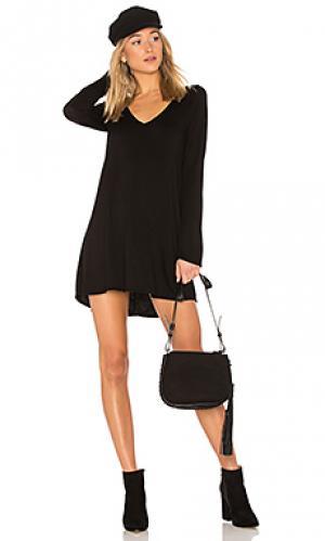 Платье с длинным рукавом kyle Michael Lauren. Цвет: черный