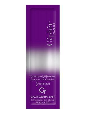 Крем для загара в солярии Cypher Platinum Bronzer Step 2 (15 мл) California Tan. Цвет: бежевый