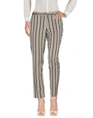 Повседневные брюки LE'S. Цвет: светло-серый