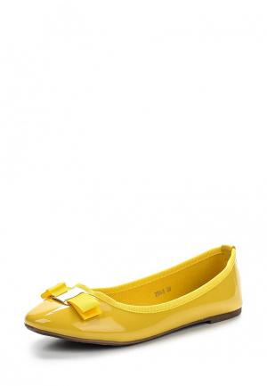 Балетки Max Shoes. Цвет: желтый