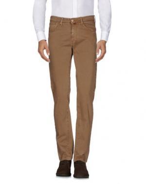 Повседневные брюки B SETTECENTO. Цвет: хаки
