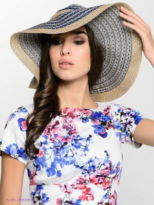 Шляпа FOMAS. Цвет: синий, бежевый