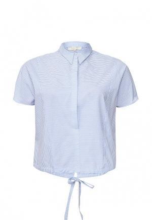 Рубашка LOST INK PLUS. Цвет: голубой