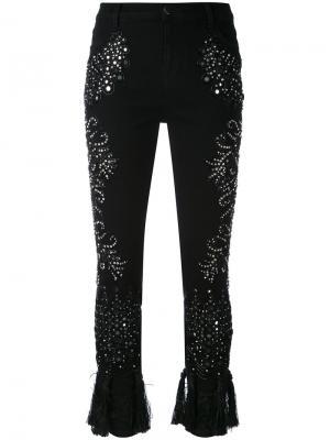 Укороченные брюки Amen. Цвет: чёрный