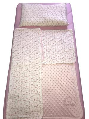 Постельное Белье Pecorella Розовый Вельбоа. Цвет: розовый, белый, темно-бежевый