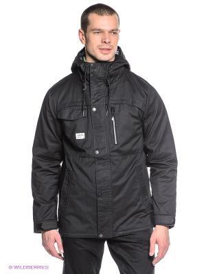 Куртка Volcom. Цвет: черный
