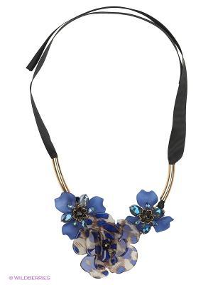 Колье Lovely Jewelry. Цвет: синий