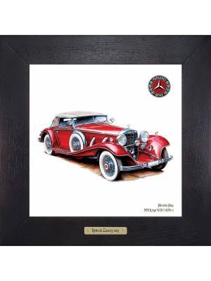 Картина-сувенир Mercedes-Benz, 500 K, type W29 (1934 г.) Ceramic Picture. Цвет: антрацитовый, темно-серый