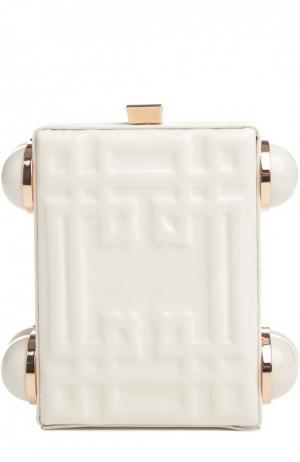 Клатч Cornice из лакированной кожи Tonya Hawkes. Цвет: белый