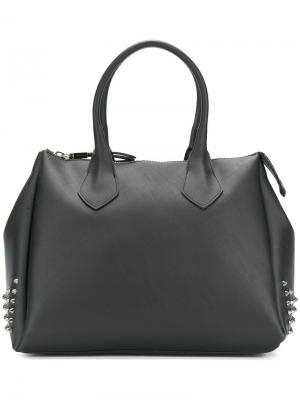 Side stud detail tote Gum. Цвет: серый