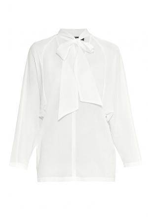 Блуза из шелка с хлопком 177501 Cyrille Gassiline. Цвет: белый
