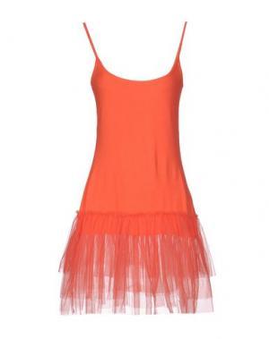 Короткое платье SOUVENIR. Цвет: коралловый
