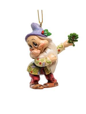 Подвеска Гном Скромник Disney Traditions. Цвет: красный, зеленый, синий