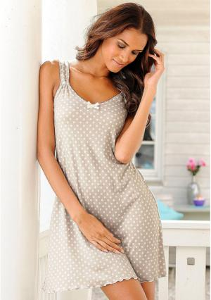 Ночная сорочка Marie Claire. Цвет: бирюзовый в горох
