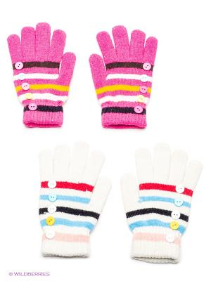 Перчатки, 2 пары FOMAS. Цвет: серый, розовый, белый