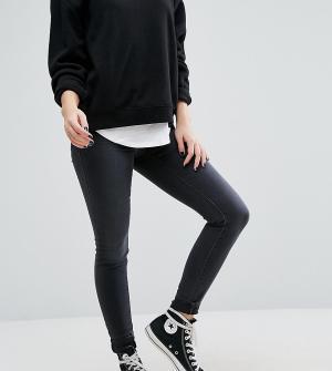 Vero Moda Petite Зауженные джинсы с высокой талией. Цвет: серый