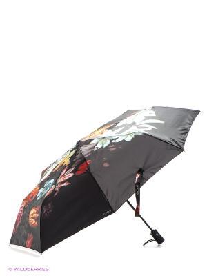 Зонт Flioraj. Цвет: черный, голубой, желтый