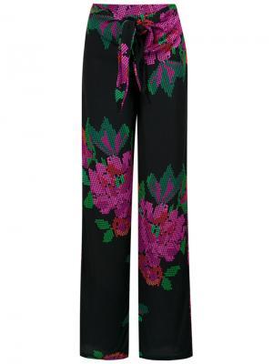 Roses print wide leg trousers Amir Slama. Цвет: none