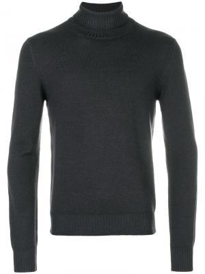 Пуловер с отворотной горловиной La Fileria For Daniello D'aniello. Цвет: серый