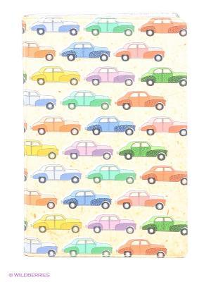 Визитница Цветные машинки Mitya Veselkov. Цвет: бежевый, зеленый, красный, синий
