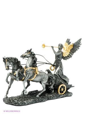 Статуэтка Богиня Ника на колеснице Veronese. Цвет: темно-серый, золотистый