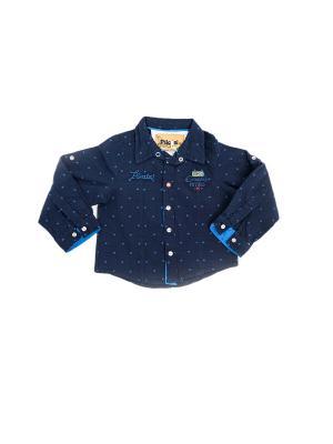Рубашка Pilota. Цвет: темно-синий, голубой