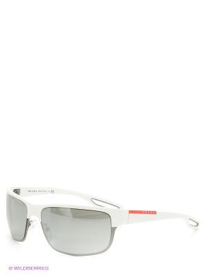Очки солнцезащитные Prada Linea Rossa. Цвет: белый, черный