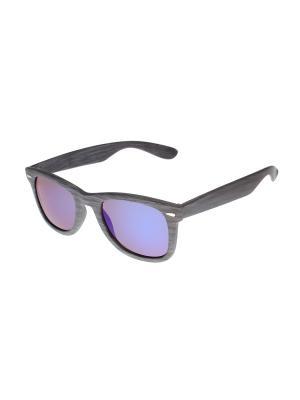 Солнцезащитные очки Gusachi. Цвет: серый, синий