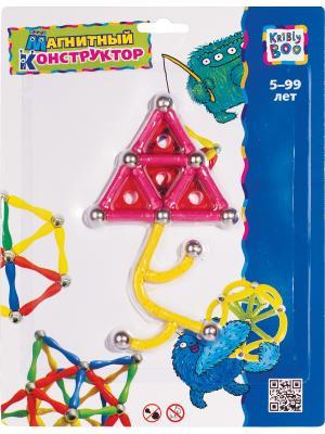 Магнитный конструктор Фигуры 3 Kribly Boo. Цвет: розовый, желтый