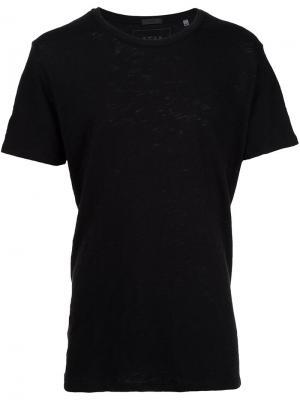 Мешковатая футболка с круглым вырезом Atm Anthony Thomas Melillo. Цвет: чёрный