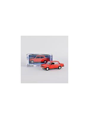 Машинка ВАЗ 2106 АВТОПАНОРАМА. Цвет: красный, черный