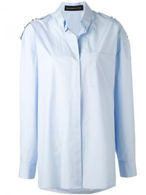 Декорированная рубашка Alexandre Vauthier. Цвет: синий