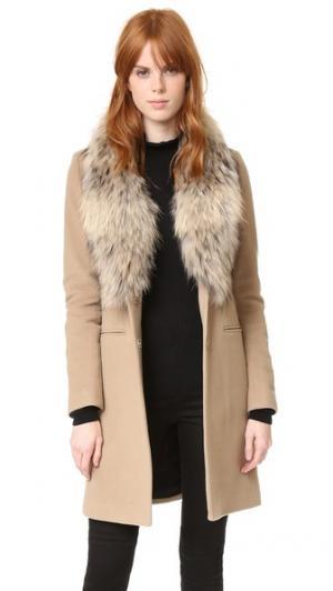 Пальто Crosby SAM.. Цвет: серый меланж/натуральный