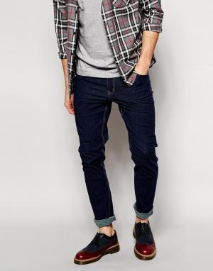 Cheap Monday Однотонные эластичные облегающие джинсы. Цвет: синий