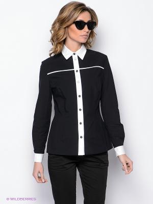 Блузка Yulia Dushina. Цвет: черный, белый