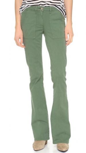 Расклешенные брюки W2 в стиле милитари 3x1. Цвет: achilles