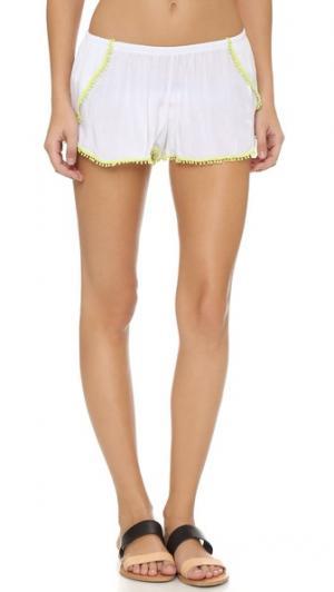 Пляжные шорты Peixoto. Цвет: белый/желтый