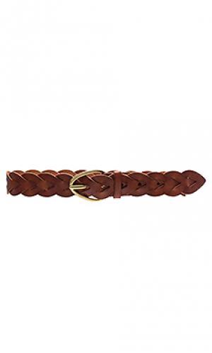 Плетеный набедренный ремень Linea Pelle. Цвет: коньяк