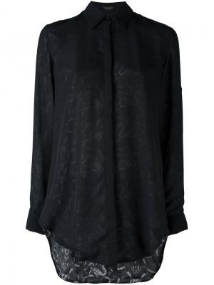 Рубашка Cartago Marcelo Burlon County Of Milan. Цвет: чёрный