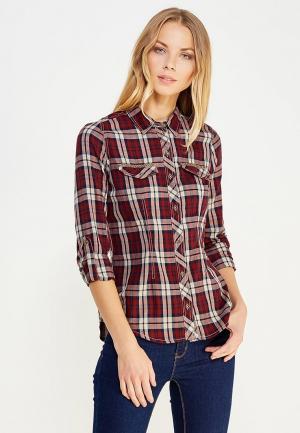 Рубашка Sela. Цвет: бордовый