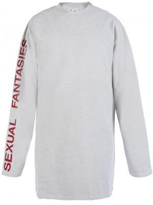 Sexual Fantasies T-shirt Vetements. Цвет: серый