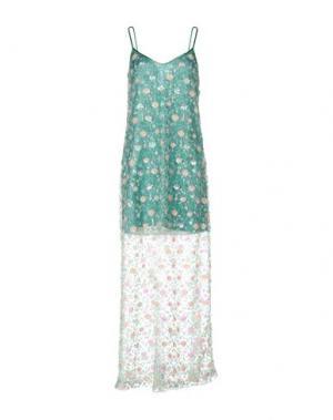 Длинное платье NORA BARTH. Цвет: зеленый