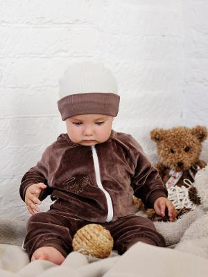 Кофта Lucky Child. Цвет: коричневый