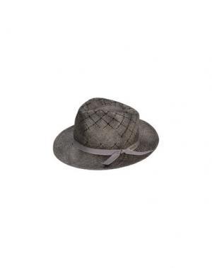 Головной убор SUPER DUPER HATS. Цвет: серый