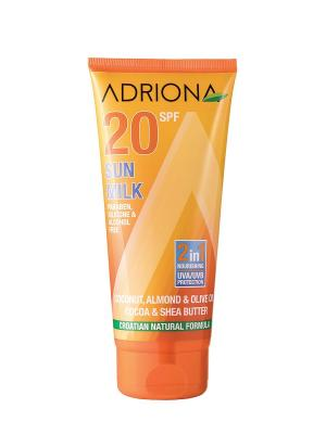 Солнцезащитное Молочко для Лица и Тела SPF 20 ADRIONA. Цвет: оранжевый