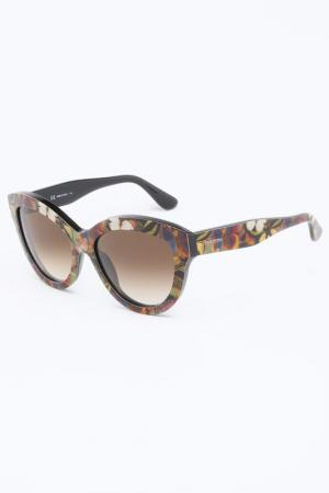 Очки солнцезащитные Valentino. Цвет: коричневый