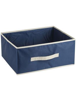 Короб COMFORT Blue без крышки, 54*40*25Н см WHITE FOX. Цвет: синий